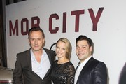 Actor Robert Knepper, executive producer Dana Renee Ashmore and actor Jeremy Luke attend TNT's 'Mob City' Screening after party at Emerson Theatre on November 21, 2013 in Hollywood, California.