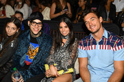 Elizabeth Hilfiger, Rich Hilfiger, Ally Hilfiger and Tyler Cameron attend TOMMYNOW New York Fall 2019 - Front Row & Atmosphere at The Apollo Theater on September 08, 2019 in New York City.