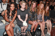 Angela Simmons, Kelly Osbourne, designer Nicky Hilton, Whitney Port and actress Holland Roden attend the Charlotte Ronson Spring 2012 fashion show during Mercedes-Benz Fashion Week at The Stage at Lincoln Center on September 10, 2011 in New York City.
