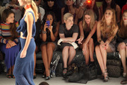 (2nd L-R) Angela Simmons, Kelly Osbourne, designer Nicky Hilton, Whitney Port and actress Holland Roden attend the Charlotte Ronson Spring 2012 fashion show during Mercedes-Benz Fashion Week at The Stage at Lincoln Center on September 10, 2011 in New York City.