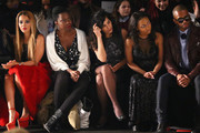 (L-R) Actors Angela Simmons, Adepero Oduye, Sarita Choudhury, Tashiana Washington and Eric West attend the Vivienne Tam fashion show with TRESemme during Mercedes-Benz Fashion Week Fall 2014 at The Theater at Lincoln Center on February 9, 2014 in New York City.
