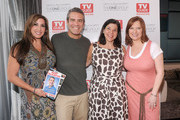 (L-R)Jacqueline Laurita, Andy Cohen, Lori O'Conner, publisher of TV Guide Magazine, and Caroline Manzo attend the TV Guide Magazine & Andy Cohen Book Signing Party on June 21, 2012 in New York City.