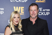 Tori Spelling and Dean McDermott arrive at WE tv's Real Love: Relationship Reality TV's Past, Present & Future event at The Paley Center for Media on December 11, 2018 in Beverly Hills, California.