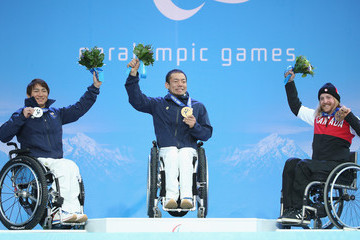Taiki Morii Caleb Brousseau 2014 Paralympic Winter Games - Day 2