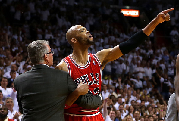 Video: Joakim Noah And Taj Gibson Both Ejected In Game 2 vs Heat