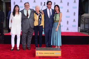 Talia Shire Director Francis Ford Coppola Takes Part in Hand and Footprint Ceremony