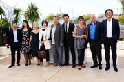 """(Left to Right) Guest, Moira Buffini, guest, Posy Simmonds, Director Stephen Frears, Dominic Cooper, Tamsin Greig, Bill Camp and Luke Evans attend the """"Tamara Drew"""" Photocall at the Palais des Festivals during the 63rd Annual Cannes Film Festival on May 18, 2010 in Cannes, France."""
