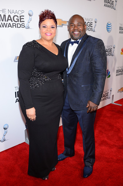 Tamela Mann Singer Tamela Mann and husband David Mann attend the 44th
