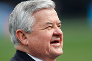 Jerry Richardson, owner of the Carolina Panthers, smiles before their game against the Tampa Bay Buccaneers at Bank of America Stadium on December 24, 2011 in Charlotte, North Carolina.