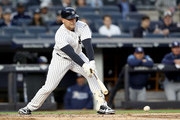 Matt Holliday #17 of the New York Yankees grounds out in the first inning against the Tampa Bay Rays on April 13, 2017 at Yankee Stadium in the Bronx borough of New York City.