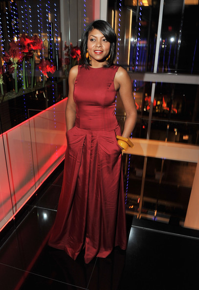 Taraji p henson red dress logo