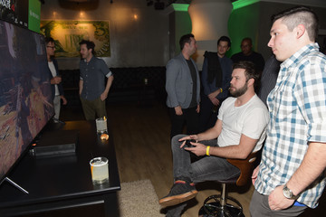Taran Killam Chris Evans, Lauren Cohan, and Lil Jon Host a Celebrity Gaming Event and Xbox Live Session in Atlanta