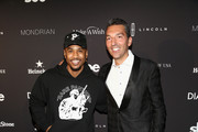 (L-R) Trey Songz and Chief Operating Officer of Disruptive Group at sbe, Sebastien Silvestri arrive at Taste of sbe Grand Dinner at Skybar at Mondrian Los Angeles with Rolling Stone to benefit Make A Wish on October 20, 2018 in West Hollywood, California.