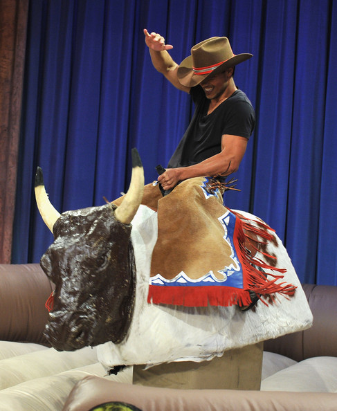 Taylor Lautner has a talent for bull riding.