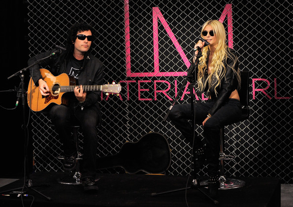 Taylor Momsen Singer Taylor Momsen (R) performs at the Material Girl clothing line launch at Macy's Herald Square on August 3, 2010 in New York City.