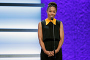 Allyson Felix is seen on stage during the 2017 Team USA Awards on November 29, 2017 in Westwood, California.
