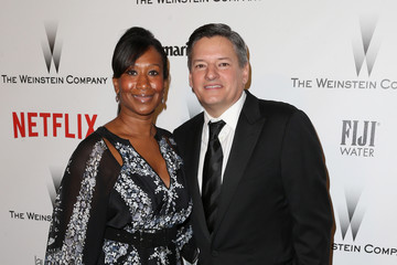 Ted Sarandos Nicole Avant Weinstein Company and Netflix Golden Globes Party