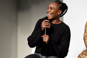 Venus Williams speaks onstage during the #TeeUpChange Campaign Launch Hosted By Dia&Co and CFDA at theCURVYcon on September 7, 2018 in New York City.