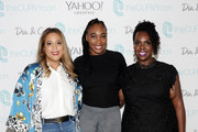 [Editor's Note: image has been retouched] Venus Williams (C) and theCURVYcon co-founders Chastity Garner Valentine and Cece Olisa attend theCURVYcon Powered By Dia&Co on September 7, 2018 in New York City.