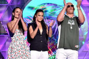 (L-R) Actors Jordana Brewster, Michelle Rodriguez and Vin Diesel accept the Choice Movie: Action Award for Furious 7 onstage during the Teen Choice Awards 2015 at the USC Galen Center on August 16, 2015 in Los Angeles, California.