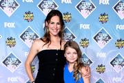 Actors Jennifer Garner (L) and Kylie Rogers pose with the Choice Movie: Drama award for 'Miracles from Heaven' in the press room during Teen Choice Awards 2016 at The Forum on July 31, 2016 in Inglewood, California.