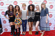 (L-R) Jesy Nelson, Jade Thirlwall, actress Bella Thorne, Leigh-Anne Pinnock, Perrie Edwards and Editor-in-chief of Teen Vogue Amy Astley attend Teen Vogue's Back-to-School Saturday kick-off event at The Grove on August 9, 2013 in Los Angeles, California.