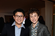 Actors Rico Rodriguez and Nolan Gould attend Teen Vogue Young Hollywood Party on September 27, 2013 in West Hollywood, California.