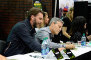 "Producers Andrew Form (L) and Brad Fuller attend a autograph signing at Wonder Con to promote the upcoming release of Paramount Pictures' ""Teenage Mutant Ninja Turtles – Out of The Shadows"", on March 25, 2016 at the LA Convention Center in Los Angeles, California."