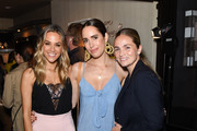Jana Kramer, Louise Roe and guest attend TellTale launch event with Jana Kramer at EB Florals Perfumery & Gallery on June 05, 2019 in Los Angeles, California.