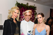 Lady Victoria Hervey, Derek Warburton and Louise Roe attend TellTale launch event with Jana Kramer at EB Florals Perfumery & Gallery on June 05, 2019 in Los Angeles, California.