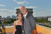 Senior Storyboard Artist Jane Wu and Director Alan Taylor pose during the France Photocall of 'Terminator Genisys' at the Publicis Champs Elysees on June 19, 2015 in Paris, France.
