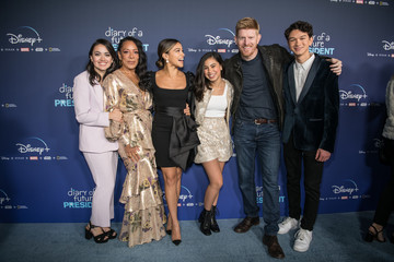 "Tess Romero Premiere Of Disney +'s ""Diary Of A Future President"" - Red Carpet"