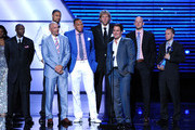 (L-R) NBA Dallas Mavericks Jason Terry, Jason Kidd, Tyson Chandler, Shawn Marion, Dirk Nowitzki, Owner Mark Cuban, Brian Cardinal and José Juan Barea accept award for Best Team at The 2011 ESPY Awards at Nokia Theatre L.A. Live on July 13, 2011 in Los Angeles, California.