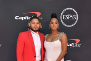 Tyrann Mathieu and Sydni Paige Russell attend The 2019 ESPYs at Microsoft Theater on July 10, 2019 in Los Angeles, California.