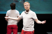 """Anthony Rapp performs during """"The 24 Hour Musicals"""" at The Irene Diamond Stage, Pershing Square Signature Center on June 17, 2019 in New York City."""