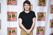 """Noah Galvin attends """"The 24 Hour Musicals"""" at The Irene Diamond Stage, Pershing Square Signature Center on June 17, 2019 in New York City."""