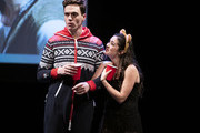 """Erich Bergen and Isabelle Fuhrman perform during """"The 24 Hour Musicals"""" at The Irene Diamond Stage, Pershing Square Signature Center on June 17, 2019 in New York City."""