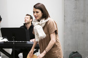"""Aya Cash rehearses """"The 24 Hour Musicals"""" at The Irene Diamond Stage, Pershing Square Signature Center on June 17, 2019 in New York City."""