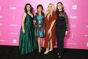 (L-R) Samantha Fuentes, Janet Murguia, Zoey Luna and  Jamie Margolin attend The ALMAs 2018 - Press Room on November 04, 2018 in Los Angeles, California.