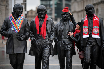 The Beatles Jeremy Corbyn Holds Pre-conference Rally