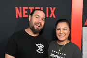 """Chris Pontius and Mae Quijadar caption here>> attends the premiere of Netflix's 'The Dirt"""" at the Arclight Hollywood on March 18, 2019 in Hollywood, California."""