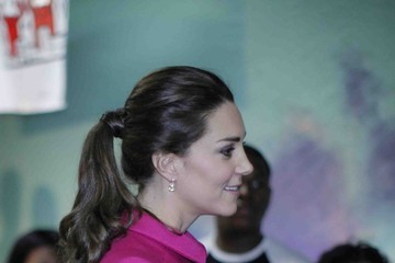 The Duchess of Cambridge British Royals Visit The Door