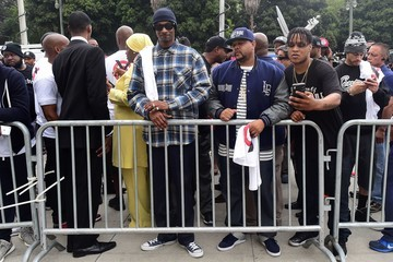 The Game Snoop Dogg Leads a Peaceful Demonstration Outside LAPD Headquaters