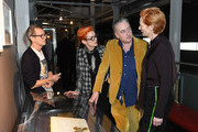 """Tilda Swinton, Sandy Powell, Simon Fisher Turner and Seamus McGarvey attend a screening of Derek Jarman's """"The Garden"""" at BFI Southbank to to raise awareness of the campaign to save Prospect Cottage on March 12, 2020 in London, England."""