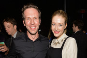 Actors Ben Begley (L) and Jennifer Finnigan attend the 'The Hungover Games' cast party at Lure on February 11, 2014 in Hollywood, California.