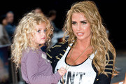 Katie Price and daughter Princess Tiaamii attend the UK premiere of The Lion King 3D at The BFI IMAX Waterloo on September 25, 2011 in London, United Kingdom.