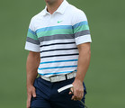 Paul Casey of England looks on from the green during a practice round prior to the start of the 2012 Masters Tournament at Augusta National Golf Club on April 3, 2012 in Augusta, Georgia.