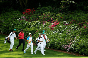 Rory McIlroy Jason Day The Masters - Round Two