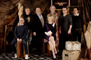 (L-R) Actors Bob Balaban, George Clooney, John Goodman, Cate Blanchett, Bill Murray, Matt Damon and producer Grant Heslov pose at a photo call for Sony Picture's 'The Monuments Men' at the Four Seasons Hotel on January 16, 2014 in Los Angeles, California.