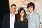 """(L-R) Tim Griffin, Sarah Jeffery and Charlie Tahan attend the New York premiere of """"The Visit"""" at Regal Cinemas Union Square on September 8, 2015 in New York City."""